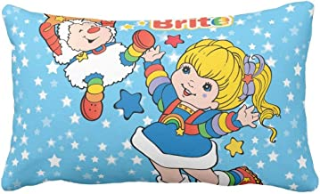 "Classic Rainbow Brite and Twink Sprite Throw Throw Pillow Case Cushion Cover 20"" x 30"""
