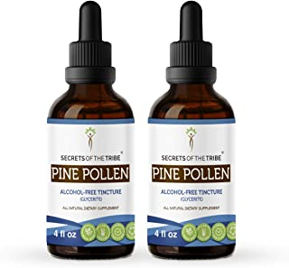 Secrets Of The Tribe Pine Pollen Alcohol-Free Tincture (Glycerite) 697 mg Wildcrafted Pine Pollen (Scots Pine, Pinus sylve...