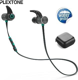 Plextone BX343 Bluetooth Sport Earphones IPX5 Waterproof Wireless Headphone Magnetic Headset with Microphone Color (Blue)