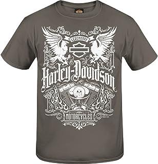 Harley-Davidson Military - Men's Smoke Grey Graphic T-Shirt - NSA Bahrain | Long Crest