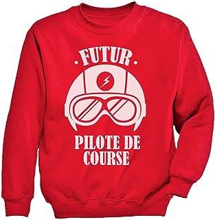 未来のリトルパイロットシャツ 未来のパイロットギフト かわいいパイロットプレゼント スイートパイロットギフト かわいい未来パイロット キッズスウェットシャツ