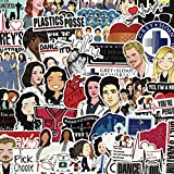 Grey's Anatomy TV Show Stickers Cartoon Laptop Stickers Vinyl Sticker Computer Car Skateboard Motorcycle Bicycle Luggage Guitar Bike Decal 50pcs Pack (Grey's Anatomy)