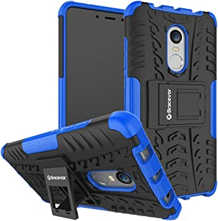 Bracevor XRDN4DKSBU Back Case Cover with Kickstand for Xiaomi Redmi Note 4 (Blue)