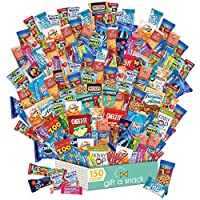 Holiday Snack Box Variety Pack (150 Count) Christmas Candy Gift Basket - College Student Care Package, Thanksgiving, Xmas Food Arrangement Chips, Cookies, Bars - Birthday Treat for Adults, Kids, Teens