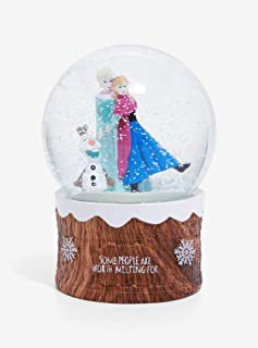 Hot Topic Disney Frozen Anna Elsa & Olaf Snow Globe