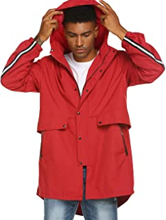 Avoogue Mens Breathable Rain Jacket Waterproof with Hood Windbreaker All Weather