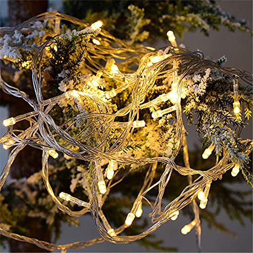 TYSYA Lichtsnoer voor Kerstmis, led-buitenverlichting, sterren, warm licht, bruiloft, feest, ontvangst, tuin, patio, decoratie