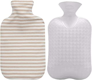 Fashy Hot Water Bottle with Organic Cotton Cover (Ivory, 67oz)