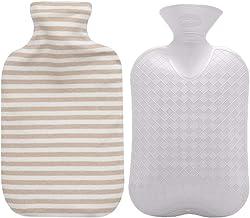 بطری آب گرم Fashy با پوشش پنبه ای آلی (Ivory، 67oz)