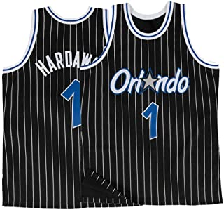 Saeniao Men's Hardaway Shirts Jerseys 1 Basketball Adult Sports Athletics Retro Anfernee Black
