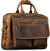 kattee mens leather briefcase