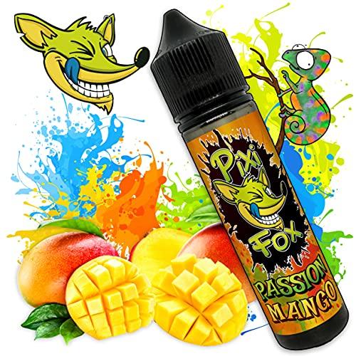 Liquido PASSION MANGO | SAPORE Mango tropicale dolce e naturale | PixiFox | 50 ml | Purezza 99,5% | Aroma Preparatto: Base 70 30 + Aromi Naturale | Sig Elettronica