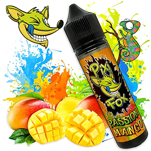 Liquido PASSION MANGO | SAPORE Mango tropicale dolce e naturale | PixiFox | 50 ml | Purezza 99,5% | Aroma Preparatto: Base 70/30 + Aromi Naturale | Sig Elettronica
