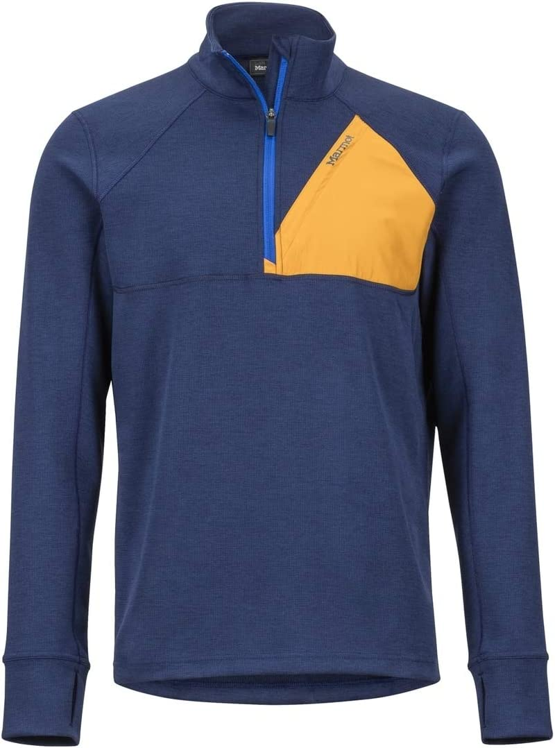 Marmot Hanging Rock 1/2 Zip Sweatshirt Homme Dark Steel/Moroccan Blue