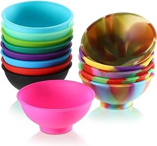 14 Pieces Mini Silicone Pinch Bowls, 1.75 Ounce Prep and Serve Bowls, Multicolor
