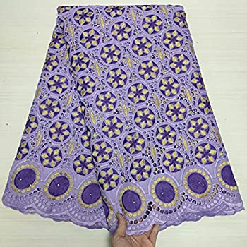 2021 Latest Design African cotton lace Swiss voile lace 5 yards/lot ML67R11  ML67R11004