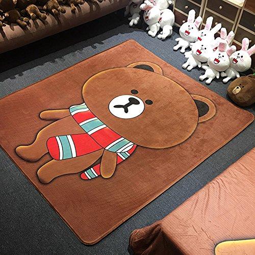 GRENSS Nouveau Dessin Humoristique Tapis Tapis de Sol Tapis Tatami Japonais 150x170cm Grand Tapis Peau de Mouton Tapis Chambre Enfant Kids pour Cadeau de Noël