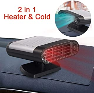 Wonninek Car Heater Defroster 12V Auto Heater Cooling Fan Window Demister Fast Heating Defrosts Defogger Windscreen De-Icer (Gray)