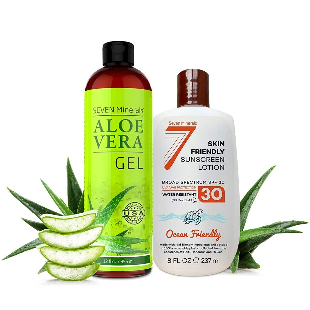 Organic Aloe Vera Gel sold out Skin Friendly SPF Sunscreen 30 Lotion Max 60% OFF