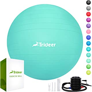 Trideer Exercise Ball (45-85cm) Extra Thick Yoga Ball...