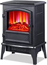 DHYBDZ Calentador de Chimenea eléctrico infrarrojo de Calentamiento rápido de 2000 W, Estufa de Calentador de Chimenea Independiente, pequeña Chimenea de Esquina