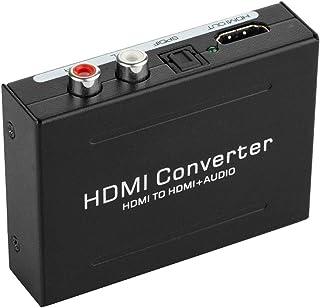 Usee HDMIオーディオ分離器 HDMI to HDMI + Optical SPDIF/Toslink L/R オーディオ分離器 HDMIデジタル RCAアナログ音声 変換 DAC HDMIビデオアダプター 1080P PS3 PS4 B...