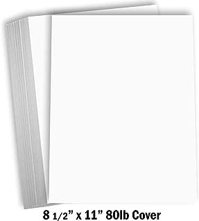 Hamilco White Cardstock Thick Paper – 8 1/2 x 11