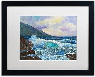 Maui's Enchanting Seas by Manor Shadian, White Matte, Black Frame 16x20-Inch