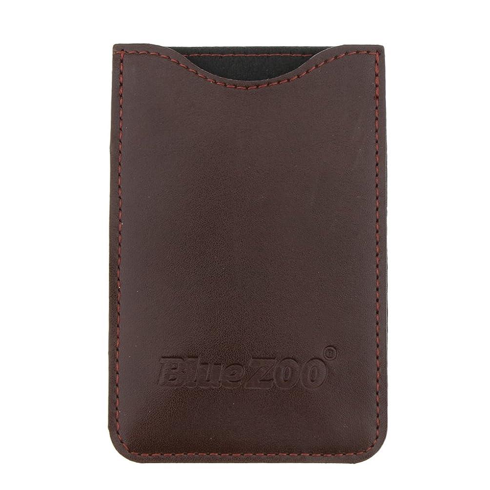 Kesoto コームバッグ 収納ケース 収納パック 保護カバー PUレザー 櫛/ヘアブラシ/名刺/IDカード/銀行カード バッグ オーガナイザー 全2色  - 褐色