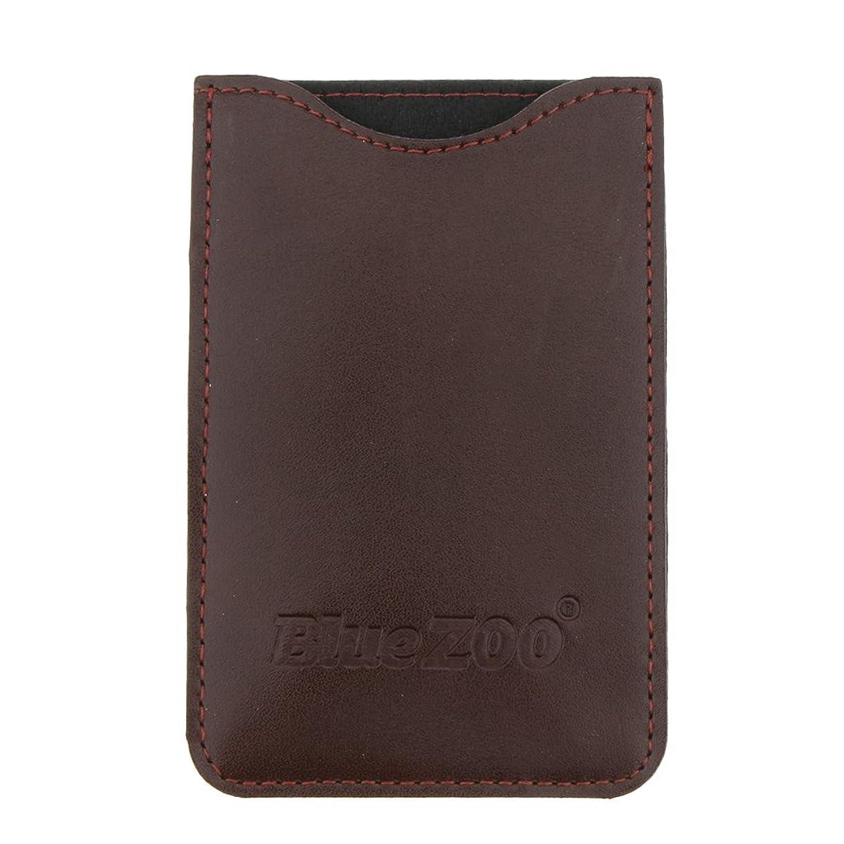 基準まばたき上記の頭と肩Kesoto コームバッグ 収納ケース 収納パック 保護カバー PUレザー 櫛/ヘアブラシ/名刺/IDカード/銀行カード バッグ オーガナイザー 全2色  - 褐色