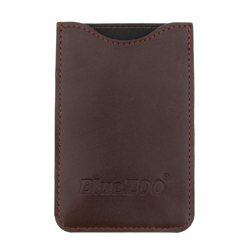 テクスチャーお風呂を持っている頑固なKesoto コームバッグ 収納ケース 収納パック 保護カバー PUレザー 櫛/ヘアブラシ/名刺/IDカード/銀行カード バッグ オーガナイザー 全2色  - 褐色