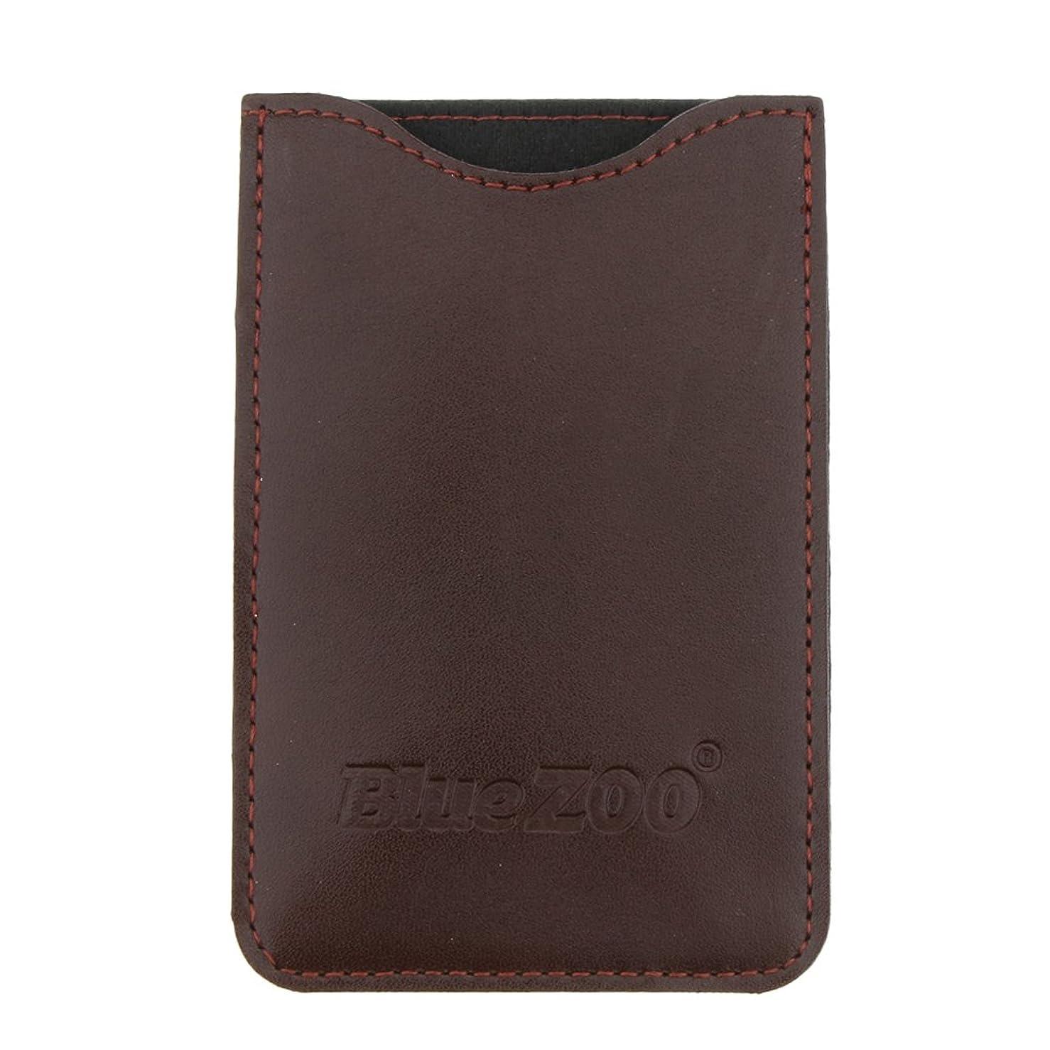 適応同化するチャペルKesoto コームバッグ 収納ケース 収納パック 保護カバー PUレザー 櫛/ヘアブラシ/名刺/IDカード/銀行カード バッグ オーガナイザー 全2色  - 褐色