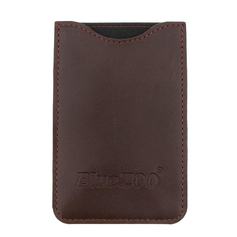 敬礼セラフマントKesoto コームバッグ 収納ケース 収納パック 保護カバー PUレザー 櫛/ヘアブラシ/名刺/IDカード/銀行カード バッグ オーガナイザー 全2色  - 褐色