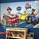 RoomMates JL1389M Paw Patrol Water Activated Removable Wallpaper Mural - 10.5 ft. x 6 ft.