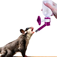 SunGrow Pet Water Bottle, No Drip Dispenser Bottle, Secure Nozzle and Stainless Steel Drinking Head, Easy to Install in Cage or Crate, Easy to Refill, BPA Free, Keep Pets Hydrated