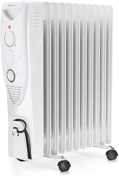 Radiatore ad olio 2500w, 11 elementi - riscaldatore elettrico portatile - pro breeze® B07RYN7NW8