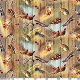 Wachstuchtischdecke abwaschbar Garten Tischdecke Wachstuch Rund Oval Eckig Indoor Outdoor Jagt Wild Jäger Motiv Holz 100x140cm - 5