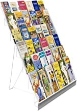 """FixtureDisplays 6-Tiered Wire Display Rack for Tabletops with Header, 2.5"""" Open Shelves - White 119356-NF"""