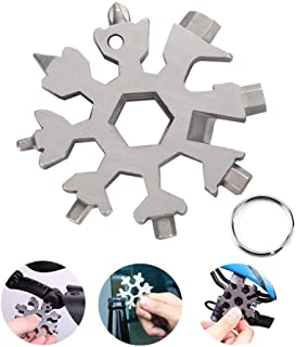 Homemaxt Snowflake Multi Tool – Easy N Genius Snowflakes Tool, FEX Stainless Steel Multi-tool, Stainless Pocket Screwdriver Handy Wrench Utility Multitool Cool Gadgets (Silver)