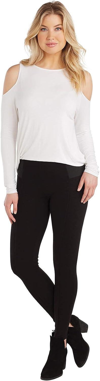 Mud Pie Black Lena Ponte Knit Leggings in Individual Sizes