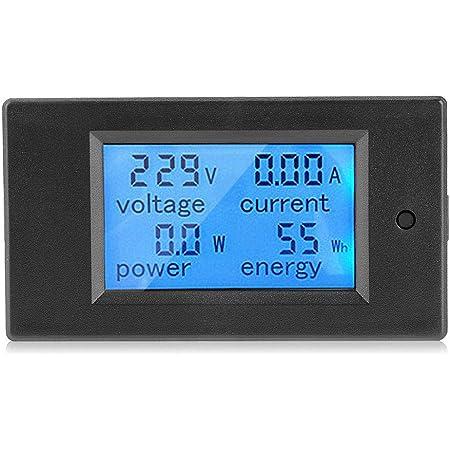 Misuratore di visualizzazione corrente di tensione CA Blu CA 60-500V 0-100A Misuratore di frequenza Potenza Pannello di energia Misuratore di pannello LCD Display digitale Voltometro Amperometro
