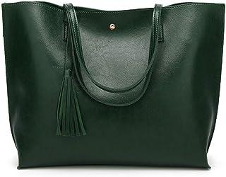 e03aed53ff14 Nodykka Women Tote Bags Top Handle Satchel Handbags PU Pebbled Leather  Tassel Shoulder Purse