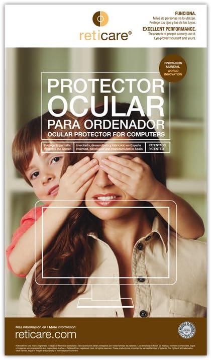 RETICARE 351L-0215-B - Protector de Ojos para Ordenador portátil de 15.6'', High, Transparente