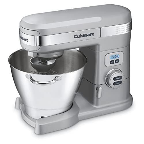 Cuisinart 5-1/2-Quart 12-Speed Stand Mixer, Brushed Chrome SM-55BC