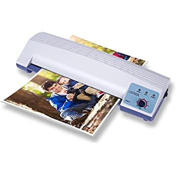 WUPYI Laminator Machine,13 Thermal Laminator Machine for A3 A4,Hot Cold Film Laminating Machine 110V 600W,Four Roller System,for Home,Office,School