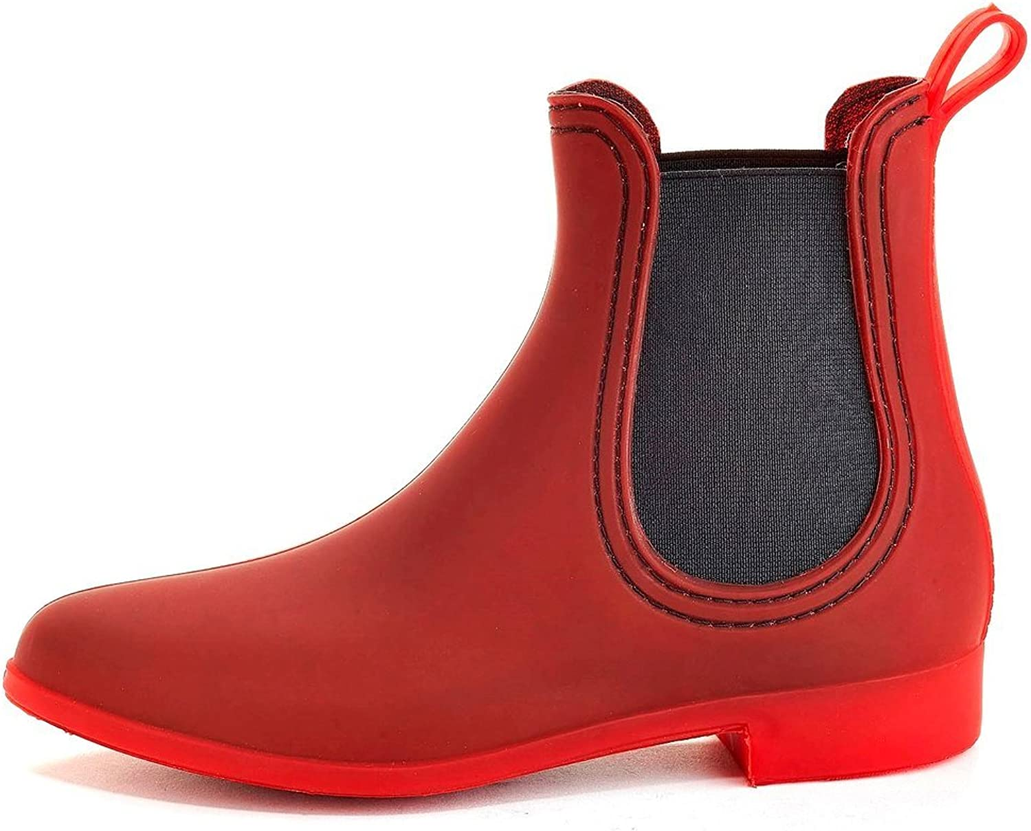 Henry Ferrera Women's Clarity Sky 7 inches (Over The Ankle) Rubber Rainboot & Gardenboot with Comfortable Insole