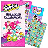 Shopkins Valentine Cards - 32 Cards with 32 Stickers