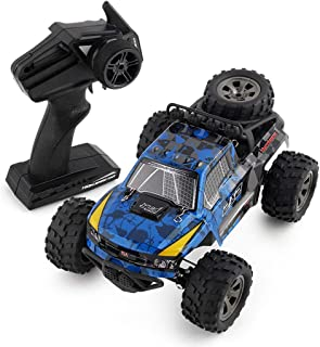 JJQ-Toys RC Cars Rremote Control Racing Car 4WD 2.4Ghz RC Cars 1:18 High Speed Rock Off-Road Racing Vehicle Crawler Pick up Truck Car Blue