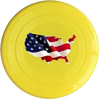 VOLTE American Flag Yellow Flying-discs 150 Grams Outdoor Activities Frisbee Star Concert Dog Pet Toys