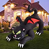 Twinkle Star 6ft Halloween Decorations Inflatable Outdoor Lighted Black Cat with Wings, Animated Halloween Blow Up Yard Prop, Giant Lawn Decorations for Home Yard Lawn Garden Party Decor